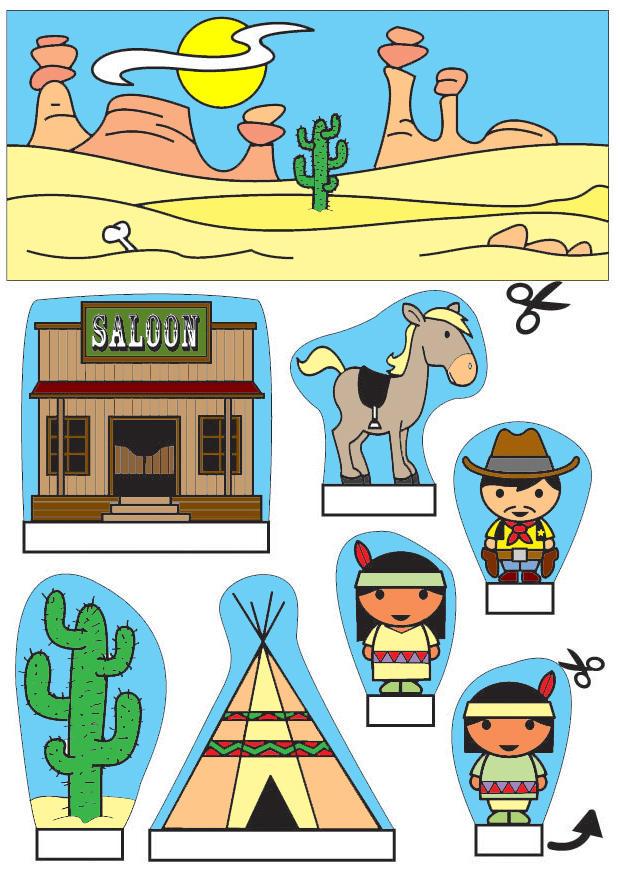 Manualidades diorama de vaqueros e indios manualidades y - Cosas de manualidades para ninos ...