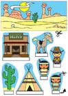 Manualidades diorama de vaqueros e indios