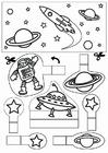 Manualidades diorama del espacio