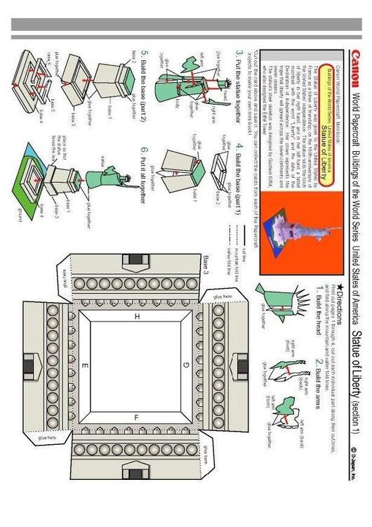Manualidades Estatua de la libertad. Manualidades y bricolaje para ...