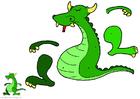 Manualidades Marioneta de dragón