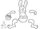 Manualidades Marioneta de liebre de pascua