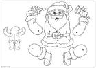 Manualidades marioneta de Papá Noel