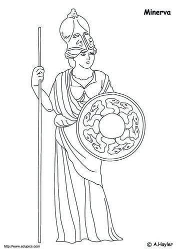 Dibujo para colorear Minerva