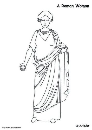 Dibujo para colorear Mujer romana