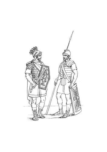 Dibujo para colorear Soldados ingleses en la legión romana